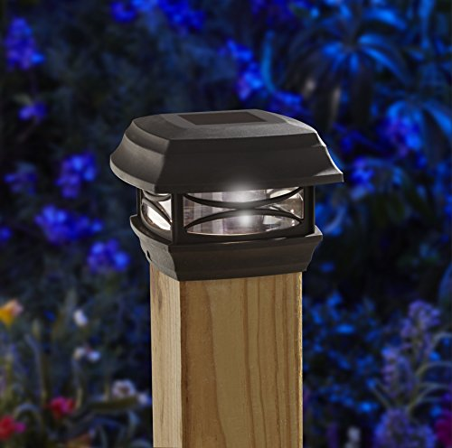 Designed To Mount On Top of 4X4 Fence Posts Solar Powered Post Cap Led Light