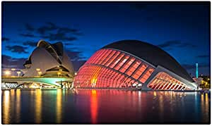 España Ríos ciudades noche Valencia Ciudad de las artes y las Ciencias turística recuerdo muebles & decoración imán imanes de nevera: Amazon.es: Hogar
