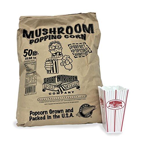 (4102 Great Northern Popcorn Gourmet Mushroom Popcorn Bulk Bag Premium Grade, 50 Pound)