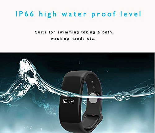 VITCHELO Waterproof Activity Fitness Tracker - Health Smart Bracelet Bluetooth Wristband w/ Heart Rate Sleep Calorie Step Monitor for Men Women - Pedometer Watch iOS & Android Compatible