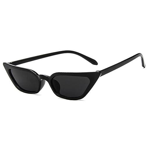 e2c07cefab AOO Retro Cat Eye Sunglasses for Women Small Shade Plastic Frame UV400  Protection (Black Black
