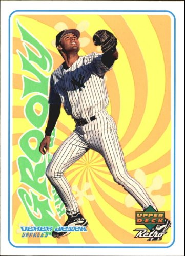 1998 Upper Deck Retro Groovy Kind of Glove Baseball Card #G24 Derek Jeter