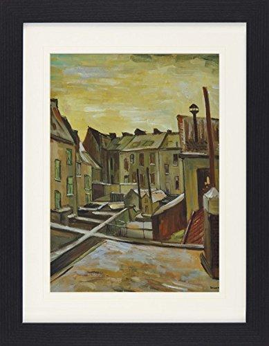 1art1 113439 Vincent Van Gogh - Hinterhö fe In Antwerpen Im Schnee, 1885 Gerahmtes Poster Fü r Fans Und Sammler 40 x 30 cm
