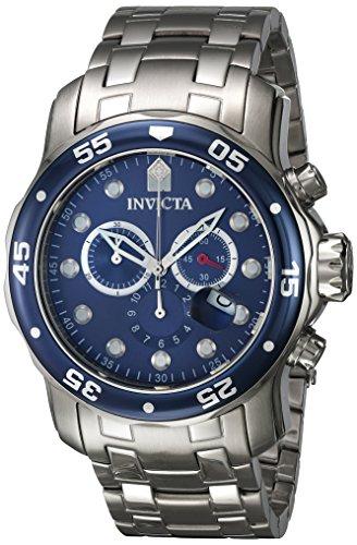 Invicta Herren-Armbanduhr XL Chronograph Quarz Edelstahl 0070
