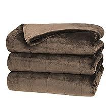 Sunbeam Full/Queen RoyalMink Heated Blanket, Walnut