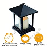 LED Candle Lantern Battery Operated Lanterns for Indoor Use (34cm Moroccan Lantern woth LED Candle and Timer)