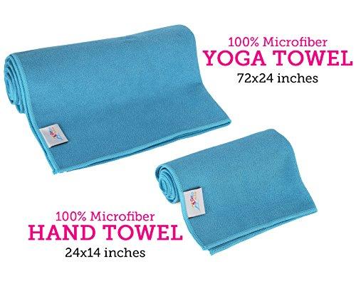 Go Go Active Yoga Accessories Set Includes 2 Yoga Blocks, 1 Microfiber Non Slip Mat Towel 72X24, 1 Microfiber Hand Towel 24X15, 1 Yoga Strap, 1 Pair Of Yoga Socks
