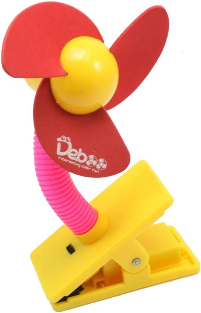 HugeStore Funciona con pilas Ventilador peque/ño para cochecito de beb/é con sistema de agarre tipo pinza