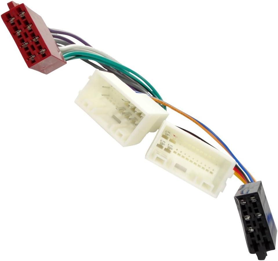 Aerzetix Adattatore convertitore cavo di collegamento per autoradio con spina ISO