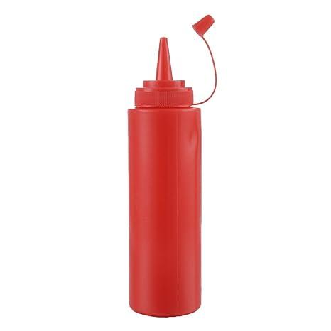 Plástico Squeeze dispensador botellas con tapas para Ketchup barbacoa salsa