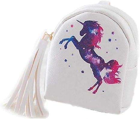 Enfants Mini Porte-Monnaie Sac Zipper Wallet Mignon Pouch Nylon Enfants Unicorn Porte-Monnaie pour Les Filles
