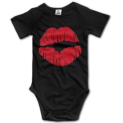 Frouren Kiss Unisex Short Sleeve Baby Onesies Outfits