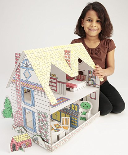 Creative Dollhouse Coloring Activity Kit