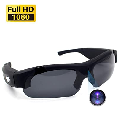 9e7185c3217a CAMXSW Sunglasses Camera Full HD 1080P Video Recorder Camera with UV  Protection Polarized Lens for Outdoor