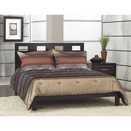 Modus Furniture RV23F7  Riva Platform Bed, King, Espresso - King Nevis Platform Bed