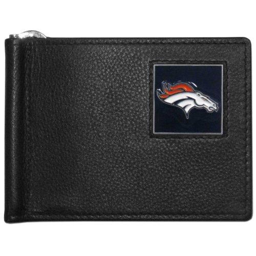 Denver Broncos Nfl Clip - NFL Denver Broncos Leather Bill Clip Wallet