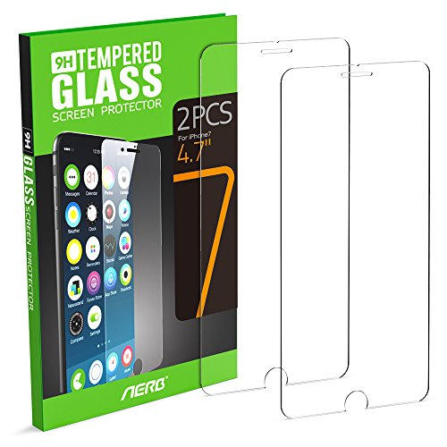 Aerb Tempered Glass Screen Protector for Apple iPhone 7, 4.7 Inch, Pack of 2