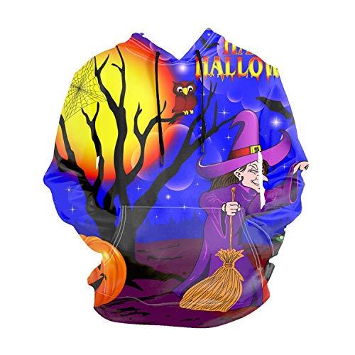 EXMENI Halloween with The Boiler Long Sleeve Hooded Sweatshirt Hoodie Tracksuit Coat Casual Sportswear for -