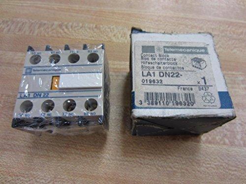 Auxiliary Contact Block (1- TELEMECANIQUE LA1DN22 SQUARE D SCHNEIDER CONTACTOR AUXILIARY CONTACT BLOCK 10 AMP 2NO-2NC 10A LA1DN 22)
