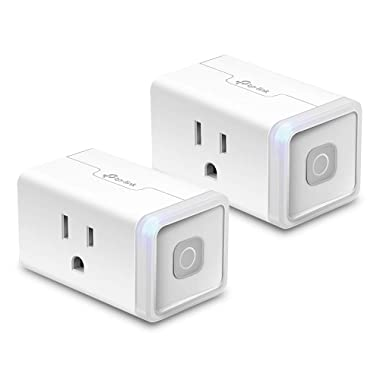 Kasa Smart Wi-Fi Plug Lite by TP-Link (2 Pack) - Control Light-Duty Devices from anywhere, Compact Design, No Hub Required, Works with Alexa & Google Assistant (HS103P2)