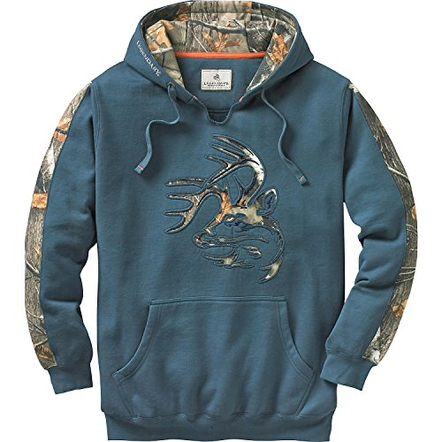 Legendary Whitetails Men's Camo Outfitter Hoodie (Slate, Large) (Hunting Gear For Men Real Tree)