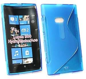 Emartbuy Value Pack Para Nokia Lumia 900 Protector De Pantalla Lcd + Oleado Gel De La Piel Cubierta / Caja Azul + Compatible Con Micro Usb Car Charger