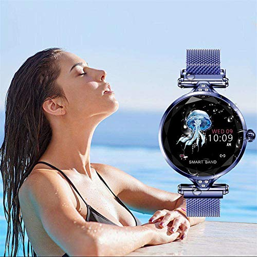 Smart Bracelet Watch, Businda Waterproof Running, Easy to Use, Fitness Tracker Heart Rate Monitor Calorie Activity Tracking Sports Pedometer Smartwatch Long standby time for Boys Girls, Blue by Businda (Image #8)