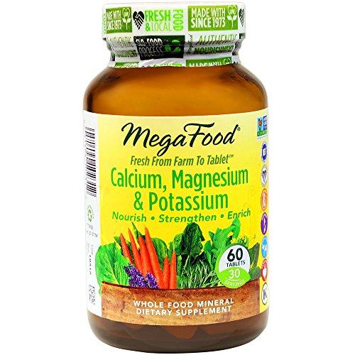 MegaFood - Calcium, Magnesium & Potassium, Supports Healthy Bones & Muscles, 60 Tablets (FFP) (Balanced Calcium)