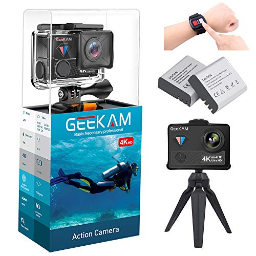 Digital Video Action Camera Live Streaming Touch Screen Underwater Cameras 4K 30fps HD WiFi Sports Cam 170 Wide Angle Remote Control Waterproof Camcorder 100ft with 2 Rechargeable 1350mAh Batteries by GeeKam (Image #7)