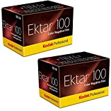 Kodak Ektar 100 Professional ISO 100, 35mm, 36 Exposures, Color Negative Film (Pack of 2)