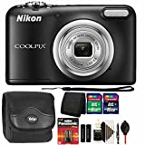 Nikon COOLPIX A10 16.1 MP Digital Camera (Black) + 24GB Memory Card + Wallet + Extra Batteries + Dust Blower + Lens Pen + Case + 3pc Cleaning Kit Review