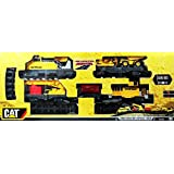Caterpillar CAT Motorized Construction Express Train Deluxe Set Featuring 5 Train Cars, 2 Construction Vehicles, and Over 7 Metres of Track