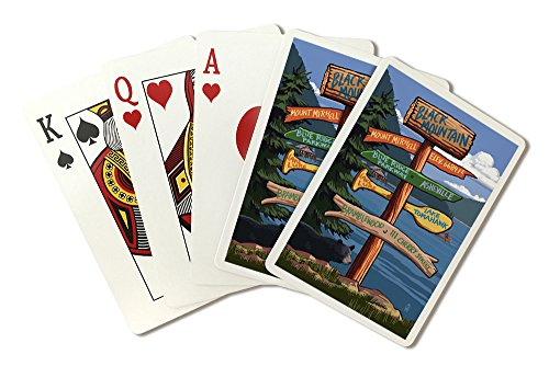 Black Mountain, North Carolina - Sign Destinations (Playing Card Deck - 52 Card Poker Size with Jokers)