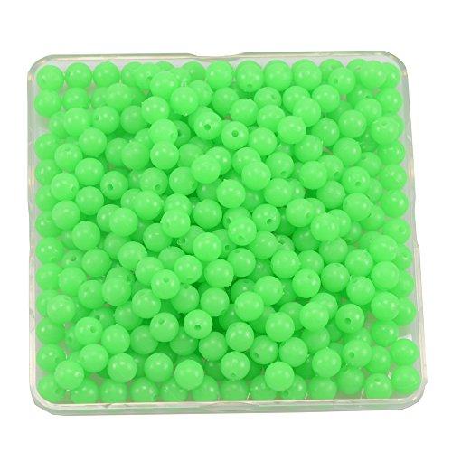 500pcs/bag Luminous Beads 6mm Luminous Block Pearl Fishing Lure Accessoires Fishing Tackle