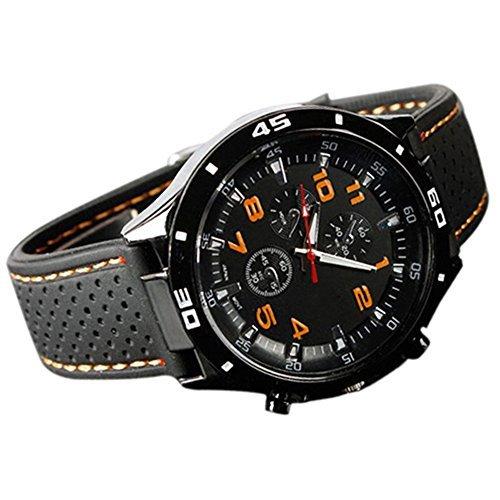 Catnew Men's Racer Military Pilot Aviator Army Style Silicone Sport Wrist Watch