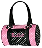 Dansbagz Dancin' Dots Ballet Duffel Bag One Size Black