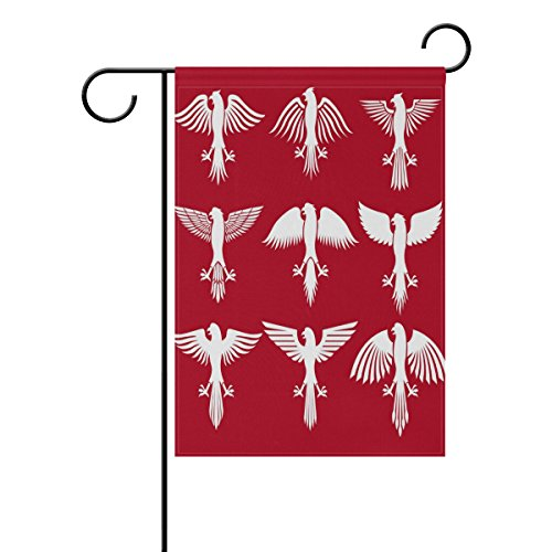 "LEISISI Polish Eagle Garden flag 12""X18"" Two Sided Yard Deco"