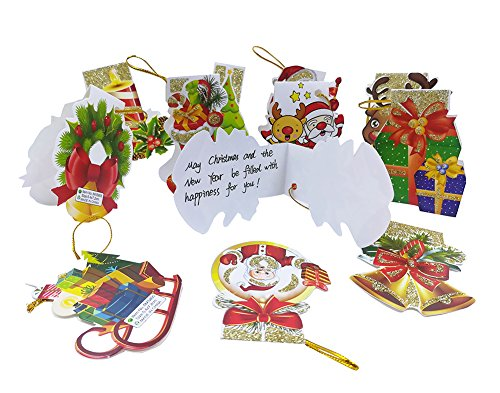 Yue Jia 240pcs Merry Christmas Tree Decorative Card Wish Card for Christmas Day New Year Decorative Wish Card W2