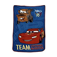 Crown Crafts Disney® CARS Taking the Race Fleece Blanket in Coral