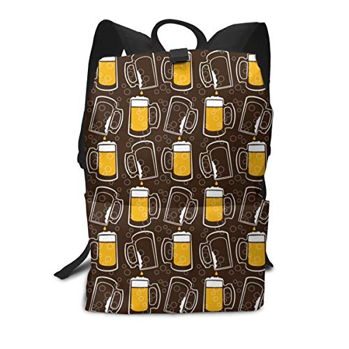 Multi Function Travel Storage Backpack,Adjustable Backpack Straps,Zip Closure,Durable Beer Print Daypack (Girl Pilsner Birthday)