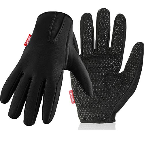 (Aegend Work Gloves for Men Women. Gardening Gloves, Utility Gloves with Reinforced Palms, Excellent Grip, Tough Protection for Yard Work, Woodworking, Car Repairing, Construction, Cycling - Size S)