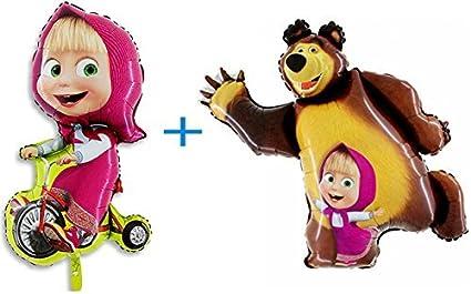 Amazon.com: Debe tener Juego de dos globos Masha y el oso ...
