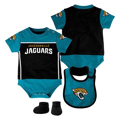 Adidas Black Bib - Outerstuff NFL Jacksonville Jaguars Boys Lil Jersey Creper,Bib&Booty, Black, 0-3 Months