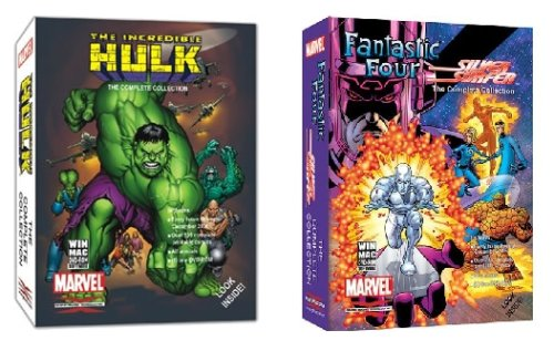 Marvel Comics Bundle - Fantastic Four Silver Surfer & The Incredible Hulk Collectors DVD-ROM Edition