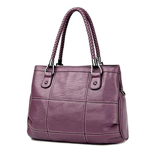 Mujer Shoppers y bolsos de hombro Bolsos bandolera Carteras de mano y clutches Gris Púrpura