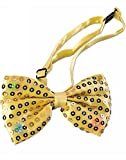 Forum Novelties Light up Sequin Bowtie, Gold