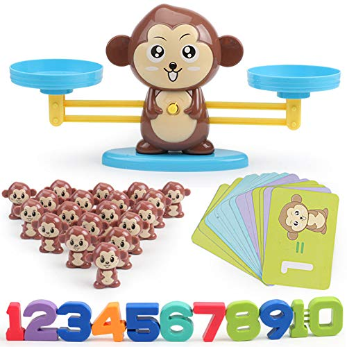 Monkey Balance Math Game Fun Learning Early Education Toy Animal Balance Scale Mathematical Digital Addition Counting…