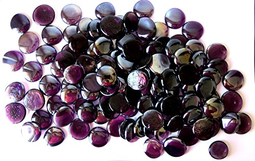 glass gems vase fillers purple - 7
