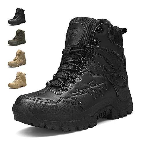 ENLEN&BENNA Men's Military Boots Tactical Boots Desert Boots Side Zipper Lightweight Composite Toe Waterproof
