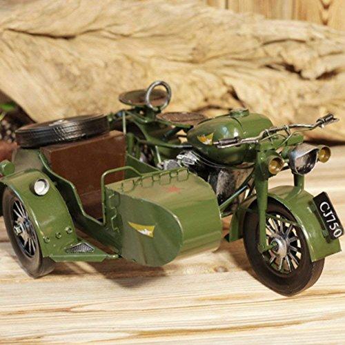 SED Decorations-Retro threeheeled Motorcycle Iron Model Display Decoration,A